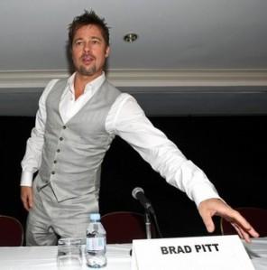 Brad Pitt--model of genteel modernity.