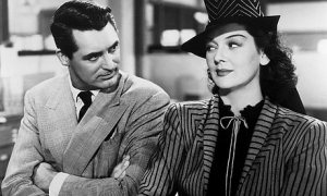 They don't make them like they used to ... Cary Grant and Rosalind Russell in His Girl Friday. Photograph: Cine Text/Allstar