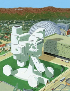 Artists rendering of proposed Academy Museum.