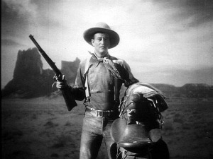 The moment we meet John Wayne's Ringo Kid—and  really, for the first time, the John Wayne.