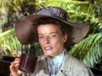 Katharine Hepburn, in The African Queen