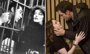 It's the 1930s all over again. Or is it? Cary Grant and Katharine Hepburn in Bringing Up Baby (1938) and Julia Roberts and Clive Owen in Duplicity (2009). Photograph: Ronald Grant Archive and Universal/Everett/Rex Features