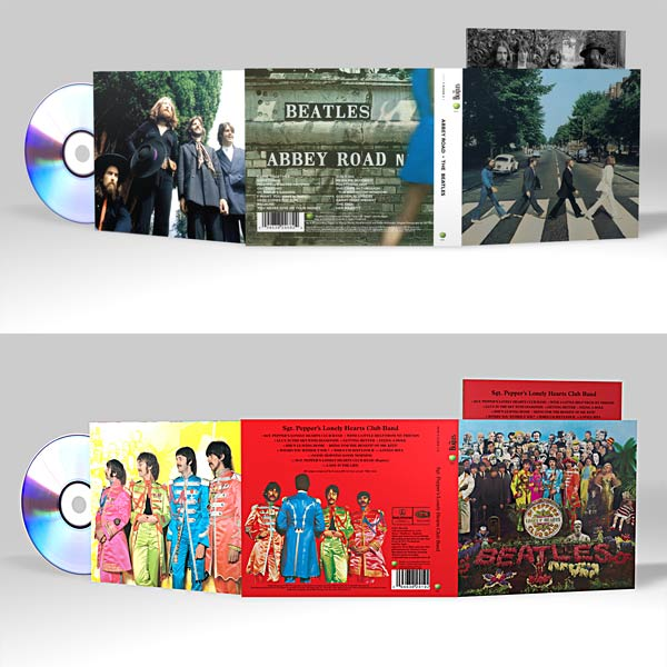 The new packaging for the digitally remastered Beatles albums. Now if only we could have them on ... oh, i dunno ... ITUNES?!?