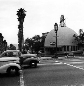 The Brown Derby, c. 1941. photo by Ansel Adams
