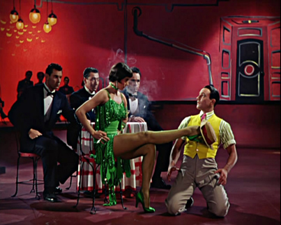 Cyd Charisse & Gene Kelly do a hat trick in Singin' in the Rain