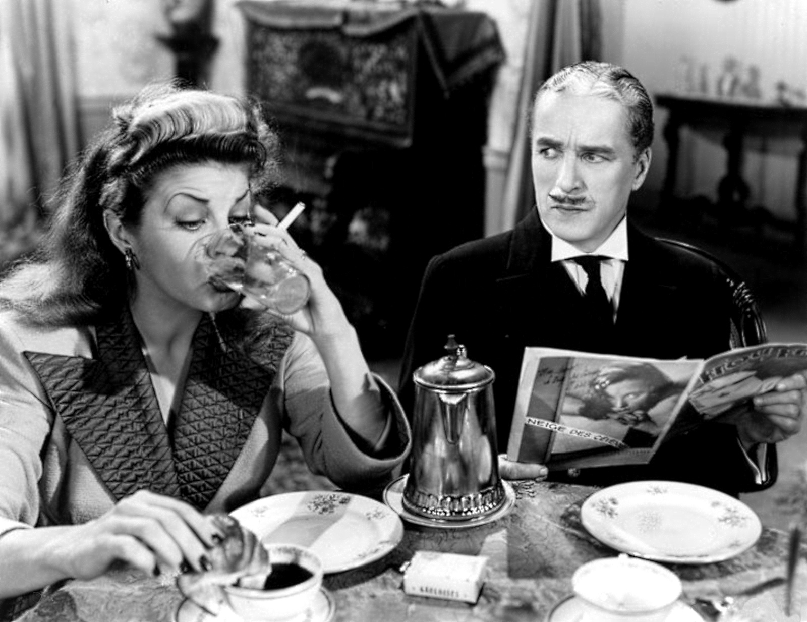 With Martha Raye in Monsieur Verdoux, 1947