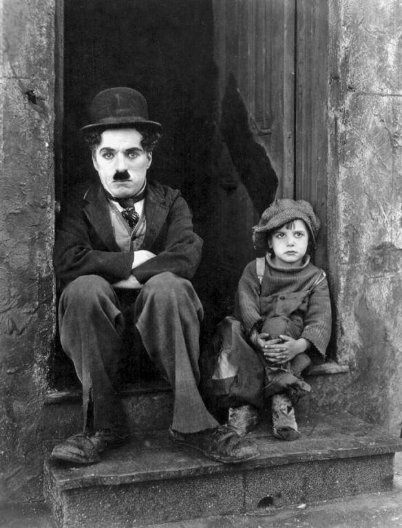 Chaplin and Coogan in The Kid