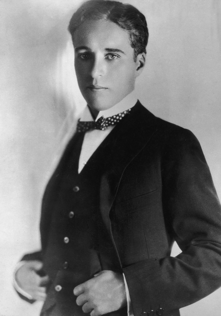 Chaplin at the time of his marriage to Mildred Harris--first out of four.