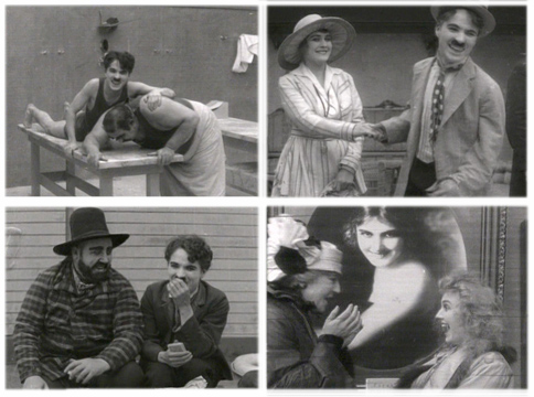 Charlie cracks up and Edna cuts up in some Mutual Film bloopers