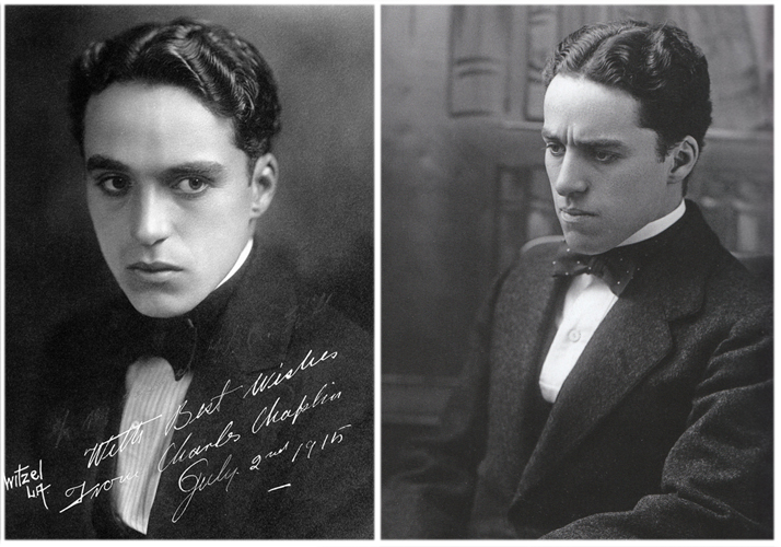 Charlie in 1915 (left) and in 1911 (right)