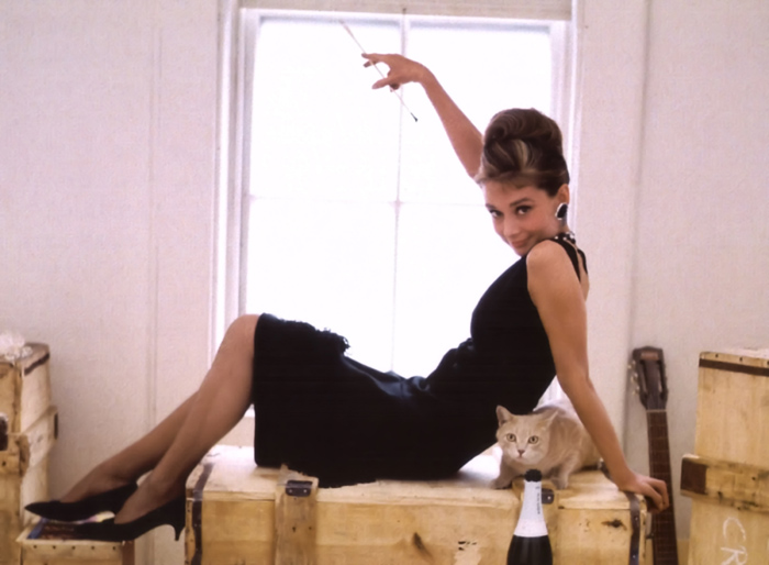 Audrey's Holly Golightly with Cat - Breakfast at Tiffany's, 1962