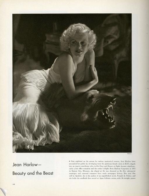 George Hurrell's classic Jean Harlow portrait.