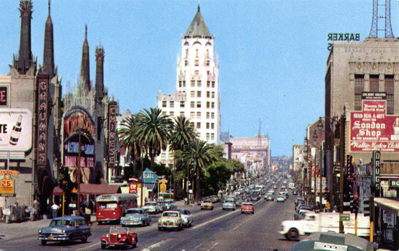 Hollywood Blvd � Then and Now
