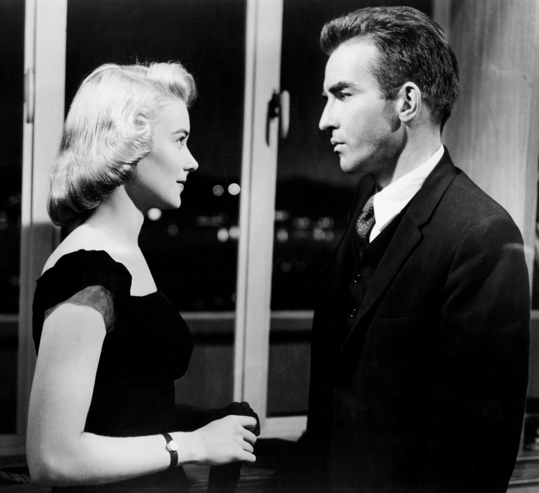 Montgomery Clift with Hope Lange in THE YOUNG LIONS