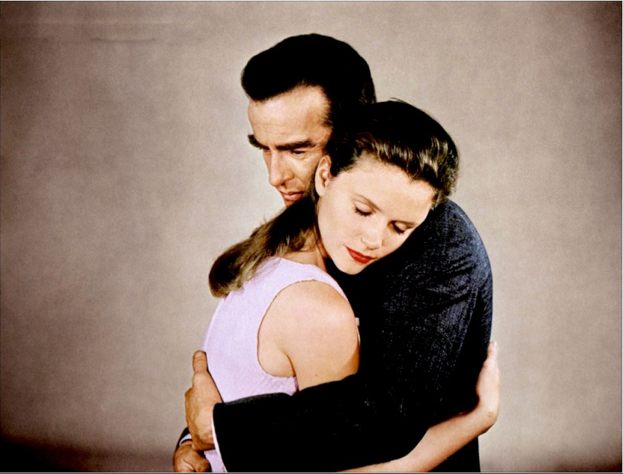 Montgomery Clift with Lee Remick in WILD RIVER.