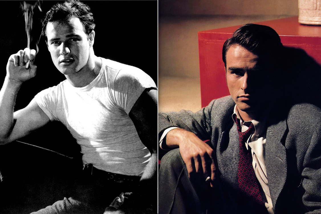 Marlon Brando and Montgomery Clift