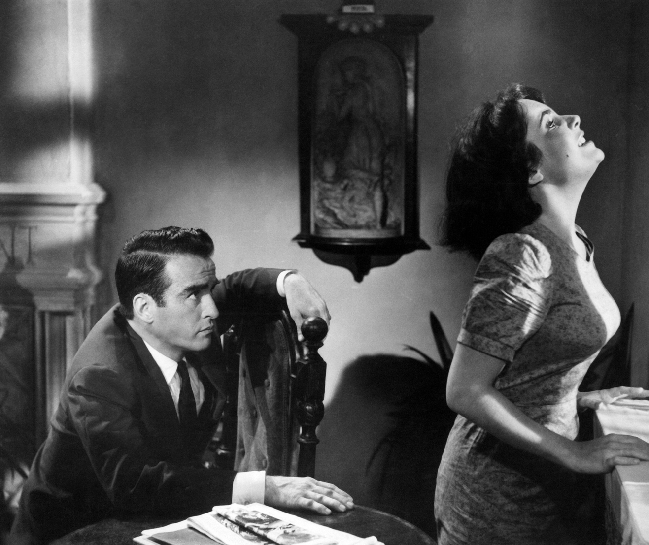Montgomery Clift with Elizabeth Taylor in SUDDENLY LAST SUMMER